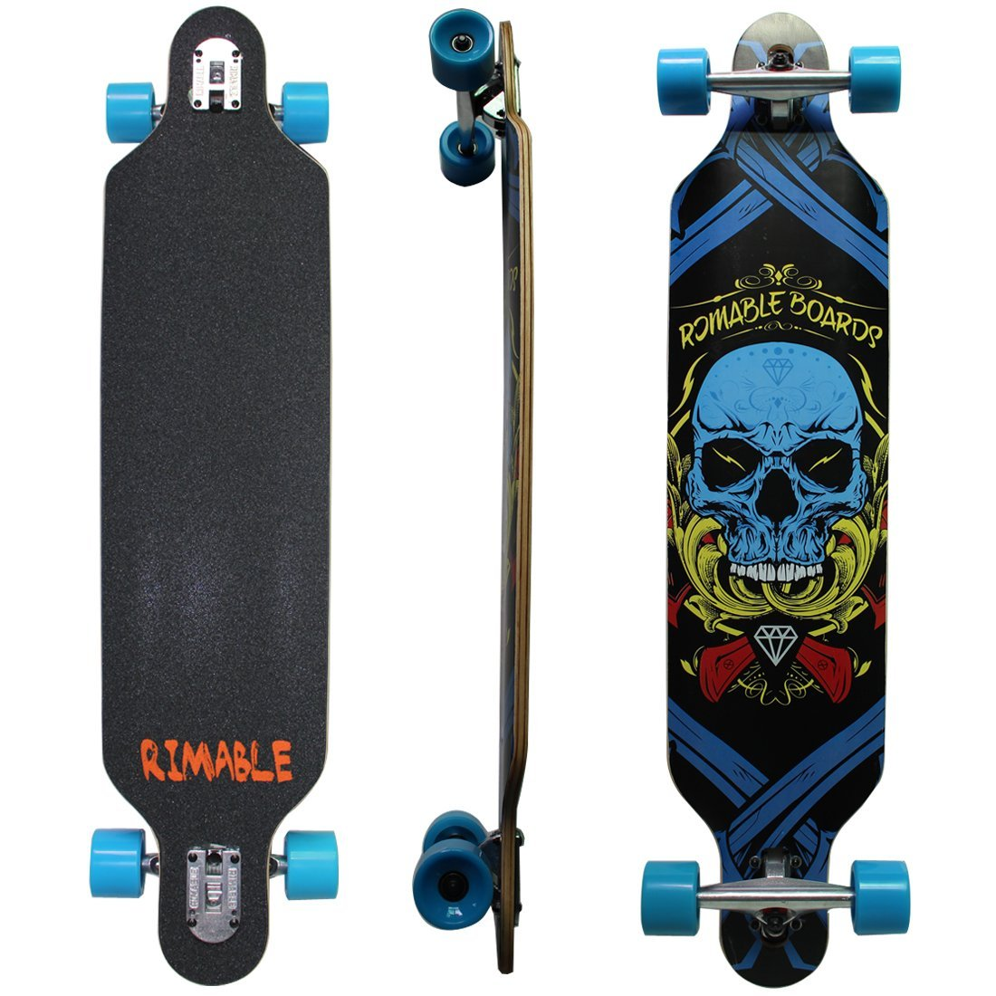 Rimable Free-riding Drop-Through Longboard