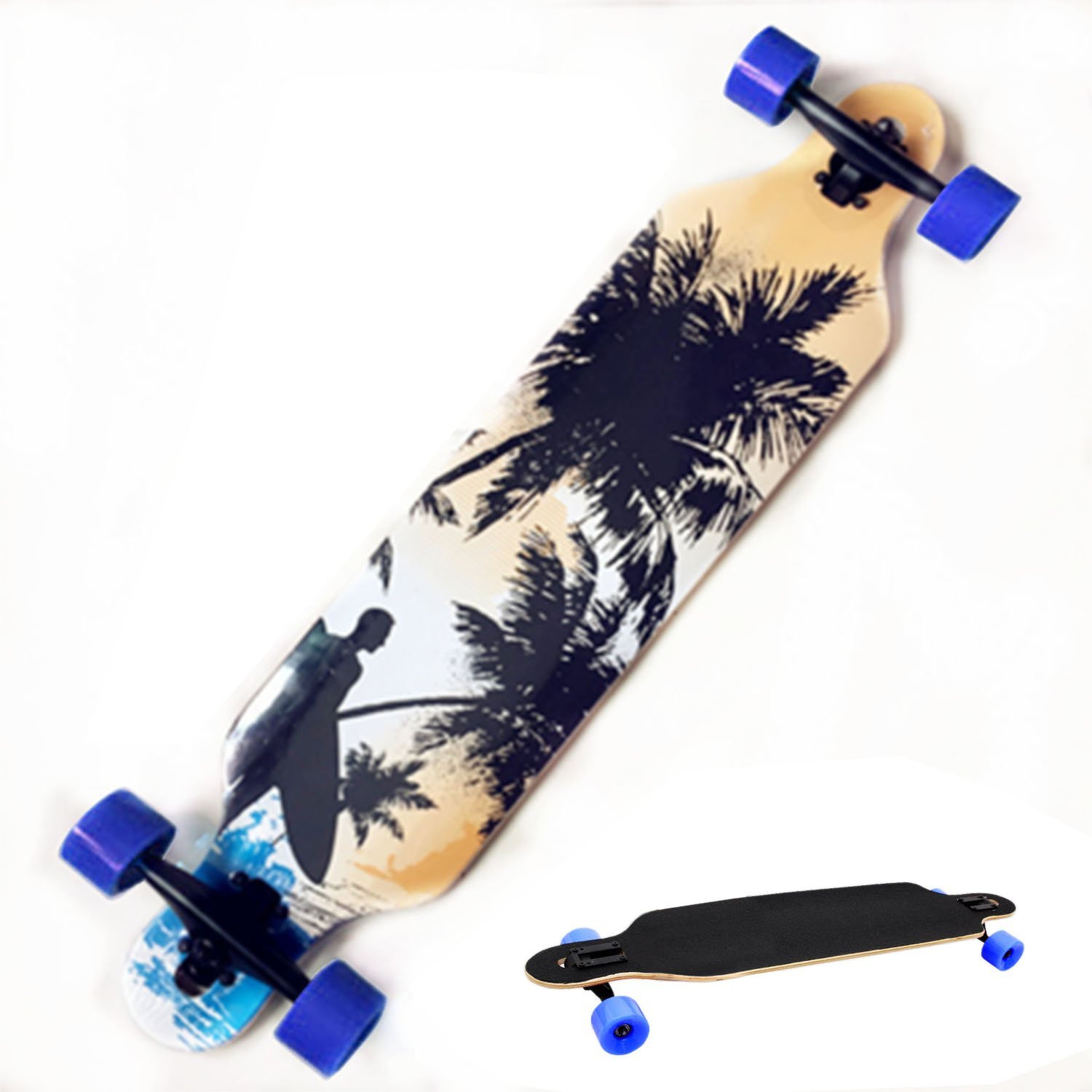 THE PROFESSIONAL WOOD PRINT LONGBOARD BY CNlinkco