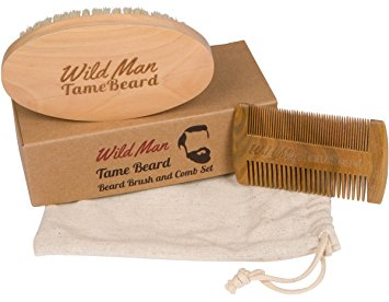 Beard Brush And Beard Comb Kit Soft Boar Bristle Perfect